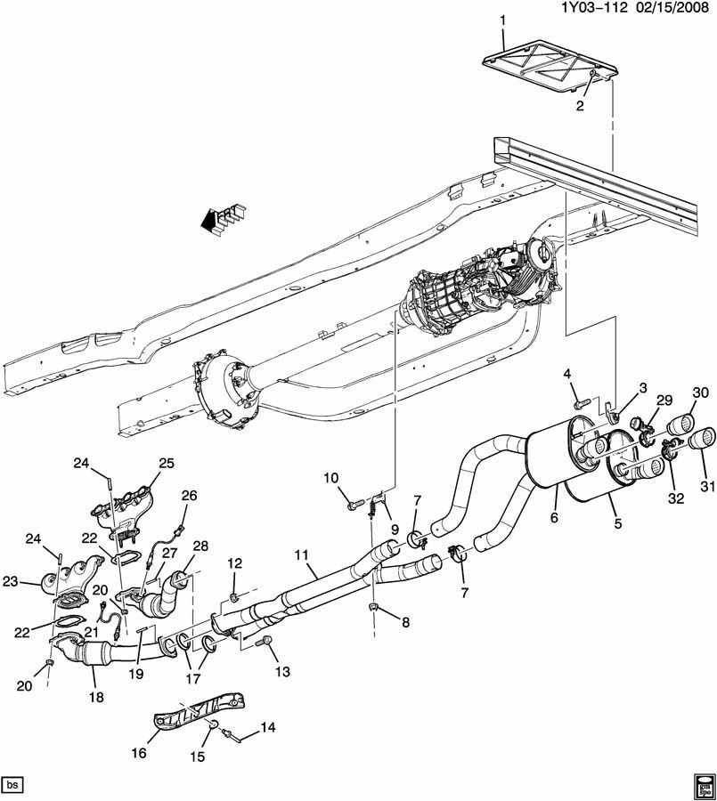 Cadillac Exhaust System Diagram