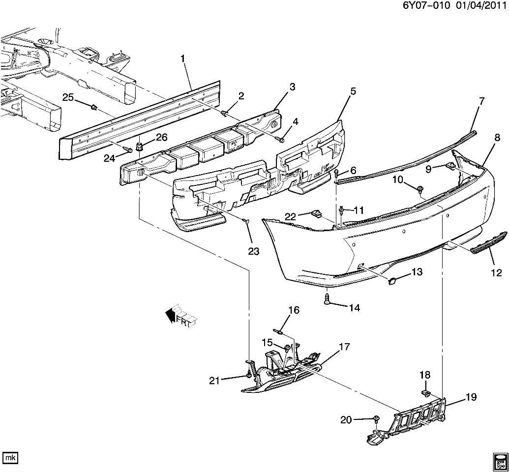 hummer h3 front bumper diagram