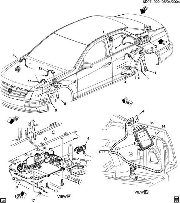 2007 Cadillac Xlr Interior: 2007-2011 Cadillac STS Ride Control Suspension Module New