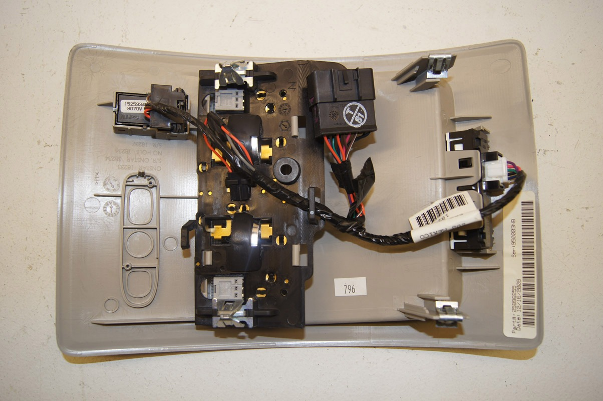 2009 Hummer H2 Overhead Light Sunroof Switch Console