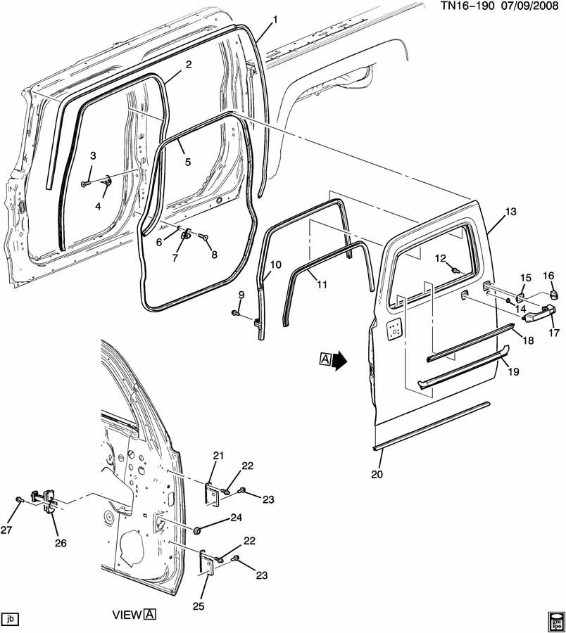 2006 2010 Hummer H3 Rear And Front Door Window Weatherstrip 25903184 on topkick electrical diagram