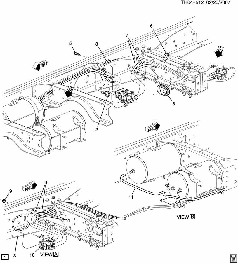 261428021479 moreover Mack Truck Air System Wiring Diagrams in addition 0502410029 as well 1168992 93 F350 Rear Brake Line Diagram besides 85guj 2006 Gmc C5500 Will Not Blow Air Motor. on bendix air brake diagram