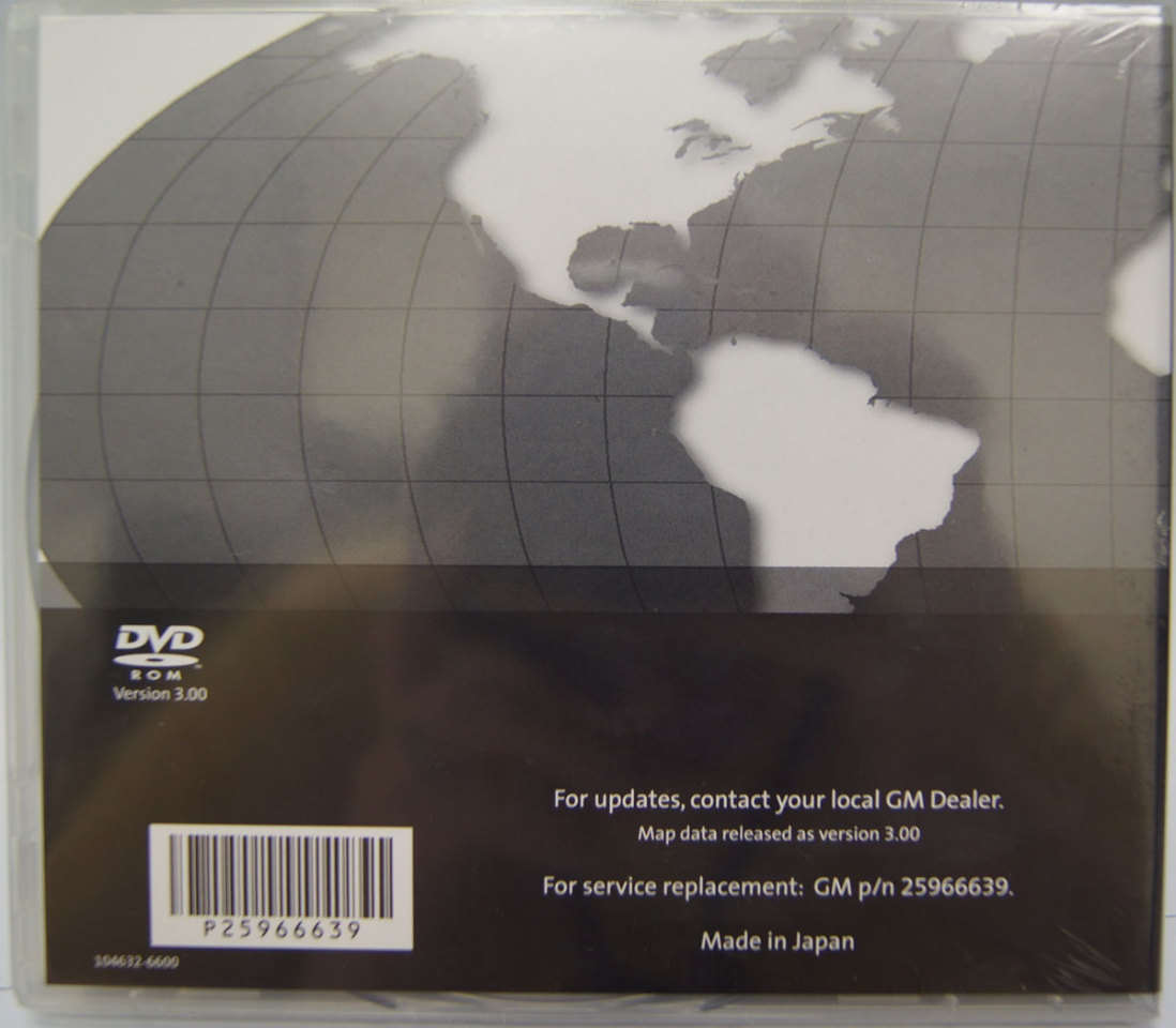 GM Middle East Navigation System Map DVD H2 Version 300 Factory