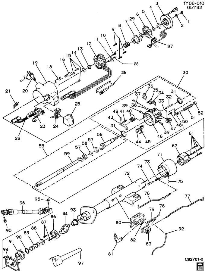 2002 Gmc Steering Column Diagram