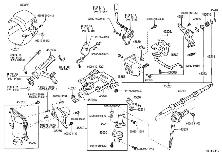toyota sienna steering column diagram