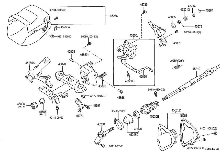 1995 1996 toyota avalon steering column trim screw cover suburban fuse diagram