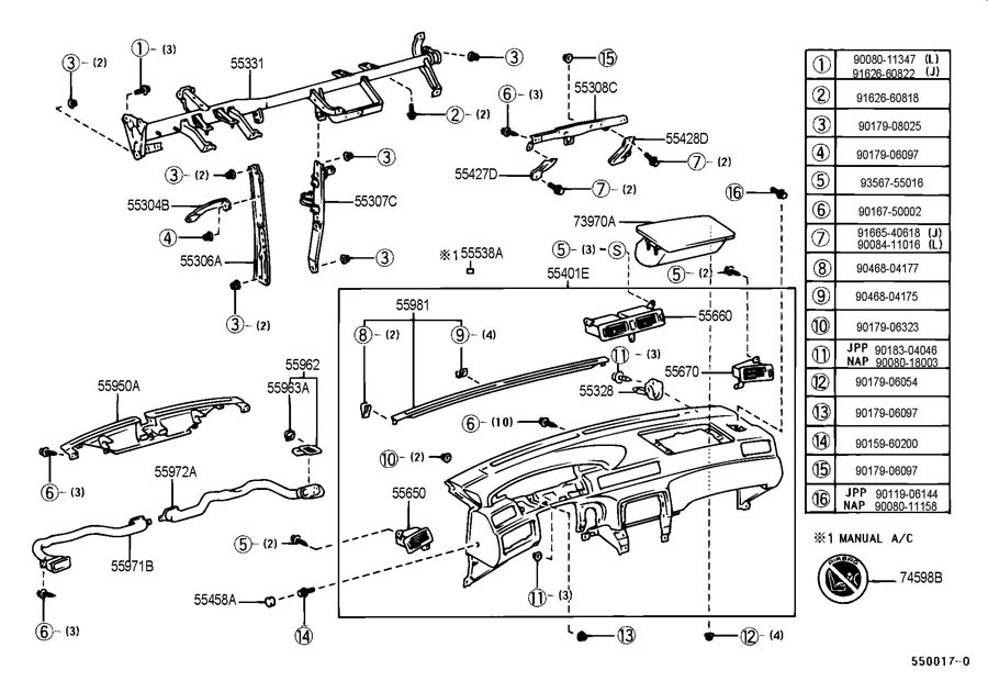 toyota corolla undercarriage parts