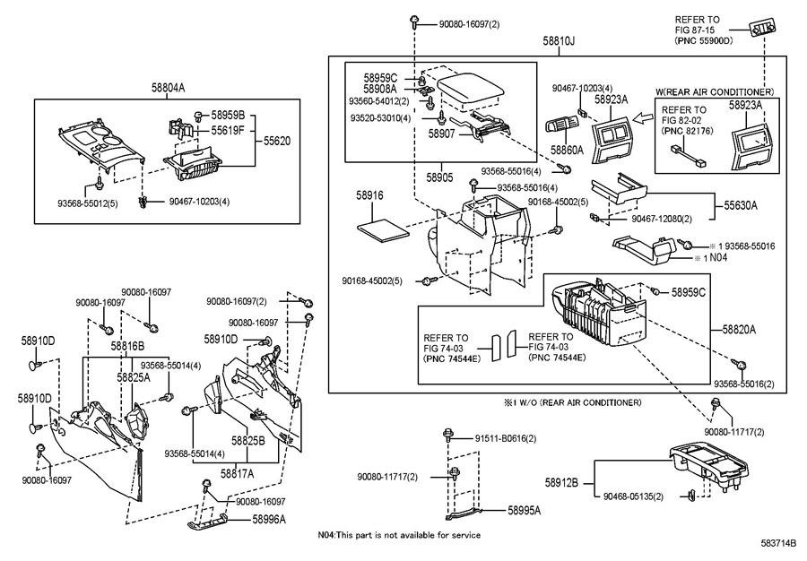 2008 toyota highlander diagram  toyota  auto parts catalog