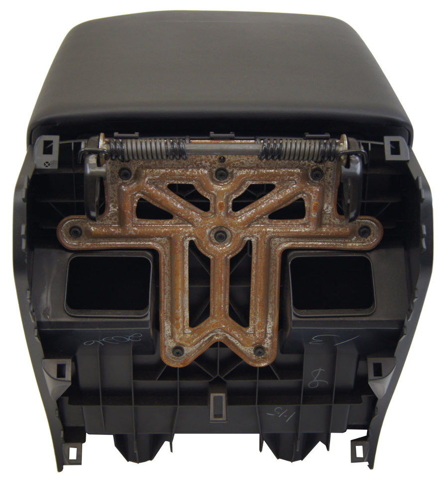 2007 2010 Toyota Tundra Rear Center Console Assembly Black