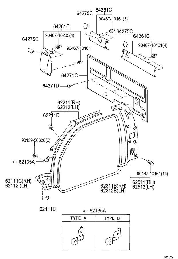 2000 2004 Toyota Tundra Rh Front A Pillar Interior Trim Molding New 622110c021e0 Factory Oem Parts
