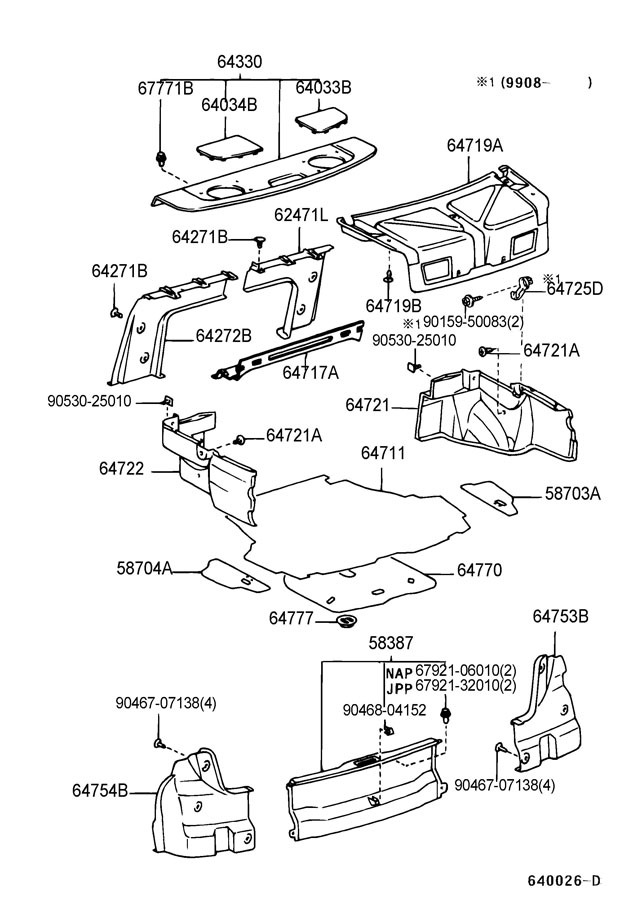 2001 toyota camry parts diagram grill toyota auto parts catalog and diagram. Black Bedroom Furniture Sets. Home Design Ideas
