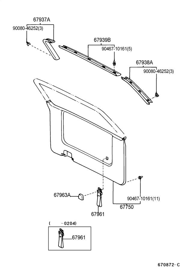 service manual  2003 toyota sienna roof trim removal