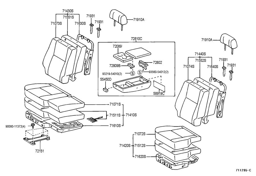 diagram of subaru forester console