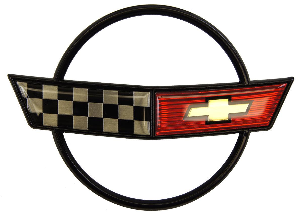 19841990 chevrolet corvette c4 emblem set front bumper