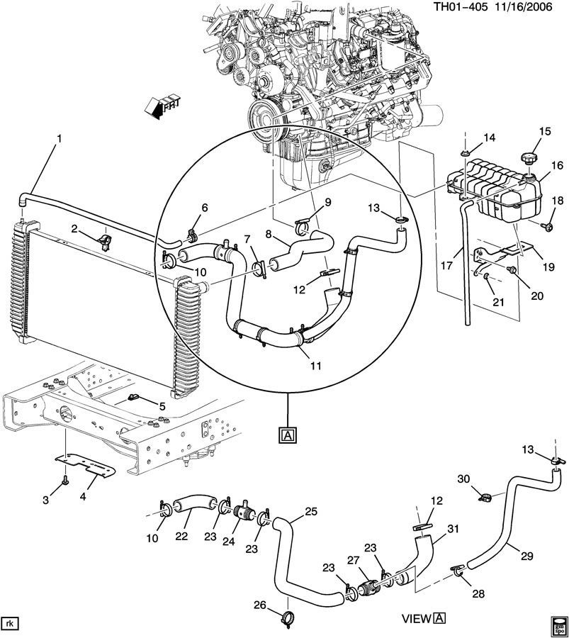 hummer h2 cooling system diagram