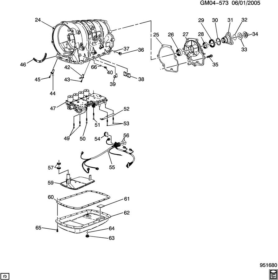GM Automatic Transmission Case Extension M82 5L40E