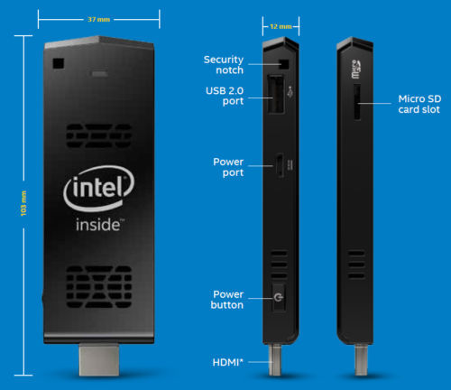 Intel Quad Core Atom Z3735f 1 33 Ghz 1gb Ram 8gb Hd Pc