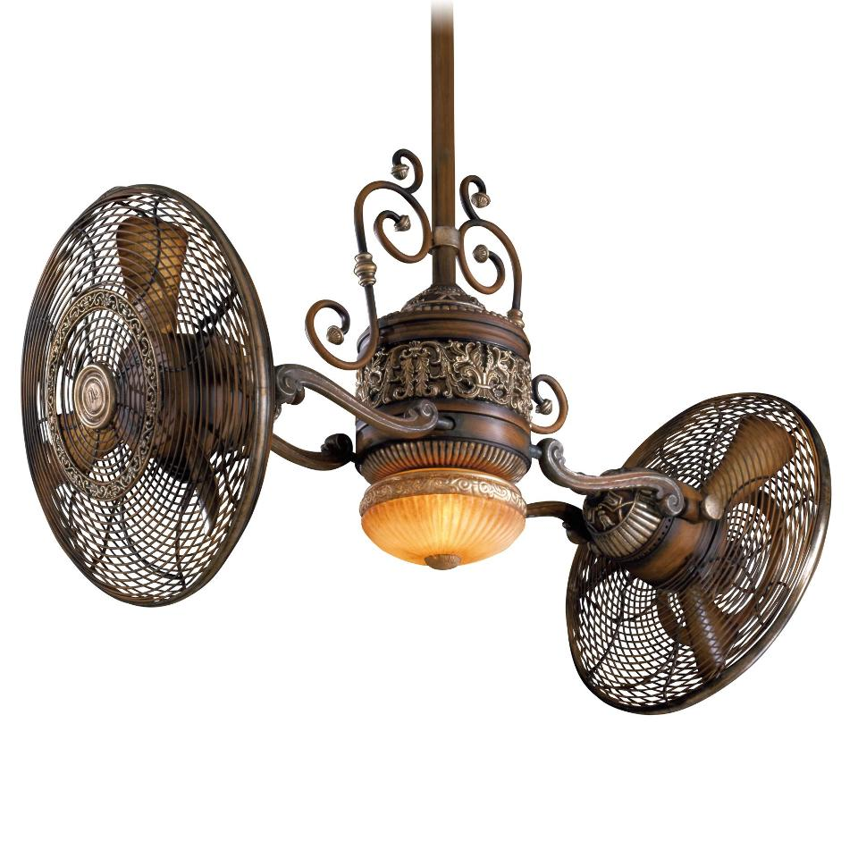 Minka Aire F502-BCW Belcaro Walnut Gyro Ceiling Fan w/Light & Wall Control eBay