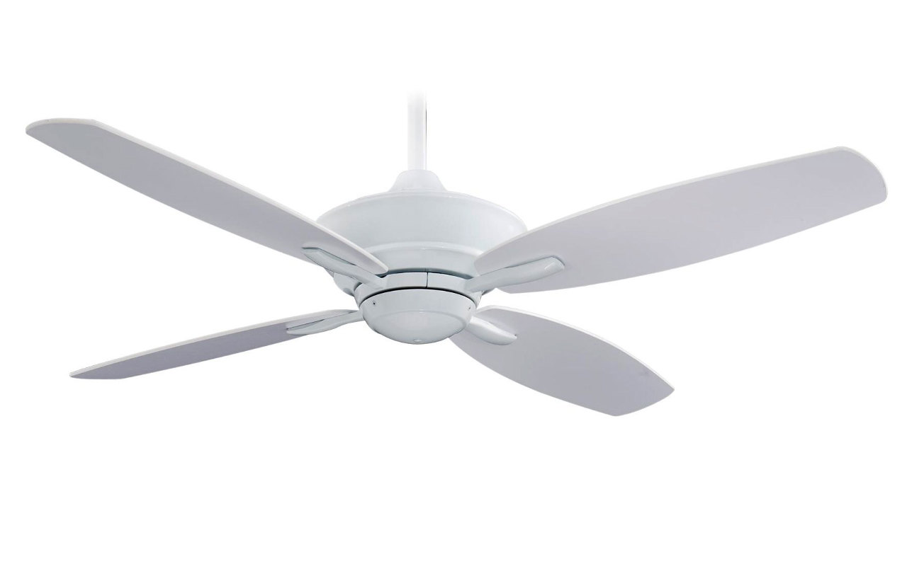 "Minka Aire F513 WH White New Era 52"" Ceiling Fan w Remote"