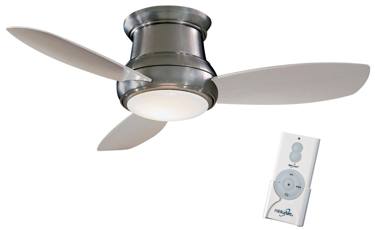 Minka Aire F519 Bn Brushed Nickel Silver Concept Ii 52