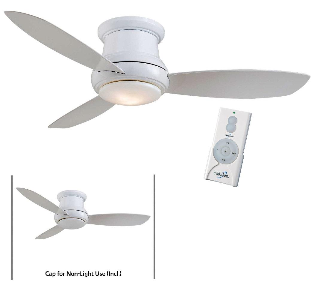 "Ceiling Fans W Lights: Minka Aire F519L-WH White Concept II 52"" Ceiling Fan W"