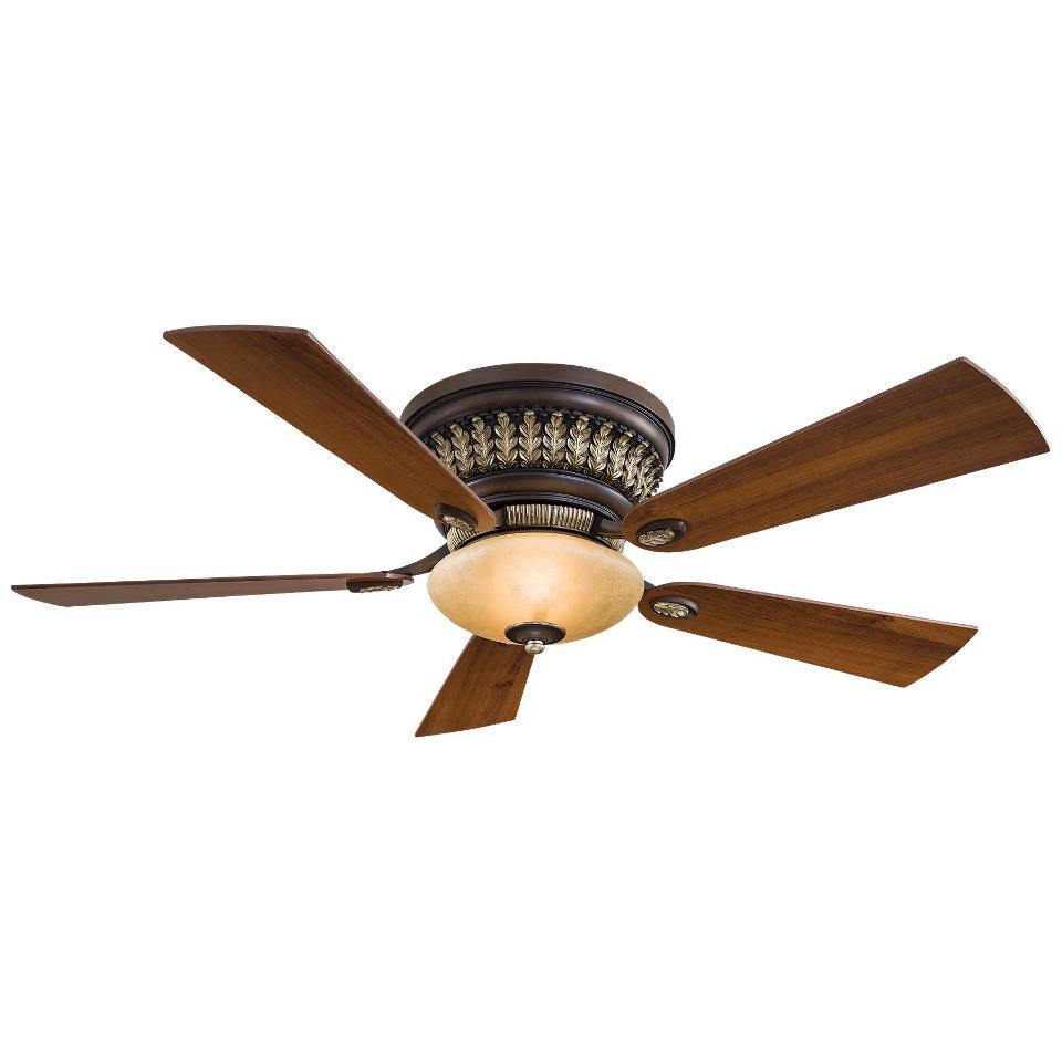 "Ceiling Fans W Lights: Minka Aire F544-BCW Calais Belcaro Walnut 52"" Ceiling Fan"