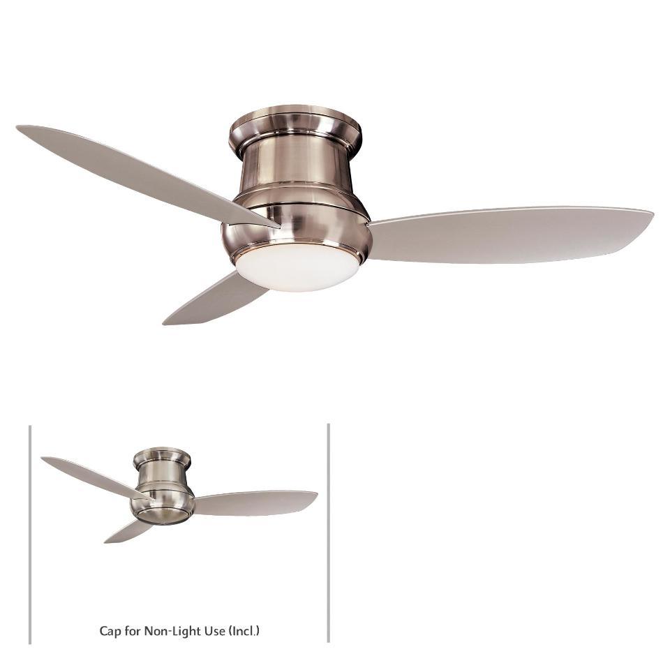 """Ceiling Fans W Lights: Minka Aire F574-BNW Concept II 52"""" Ceiling Fan W/Light"""