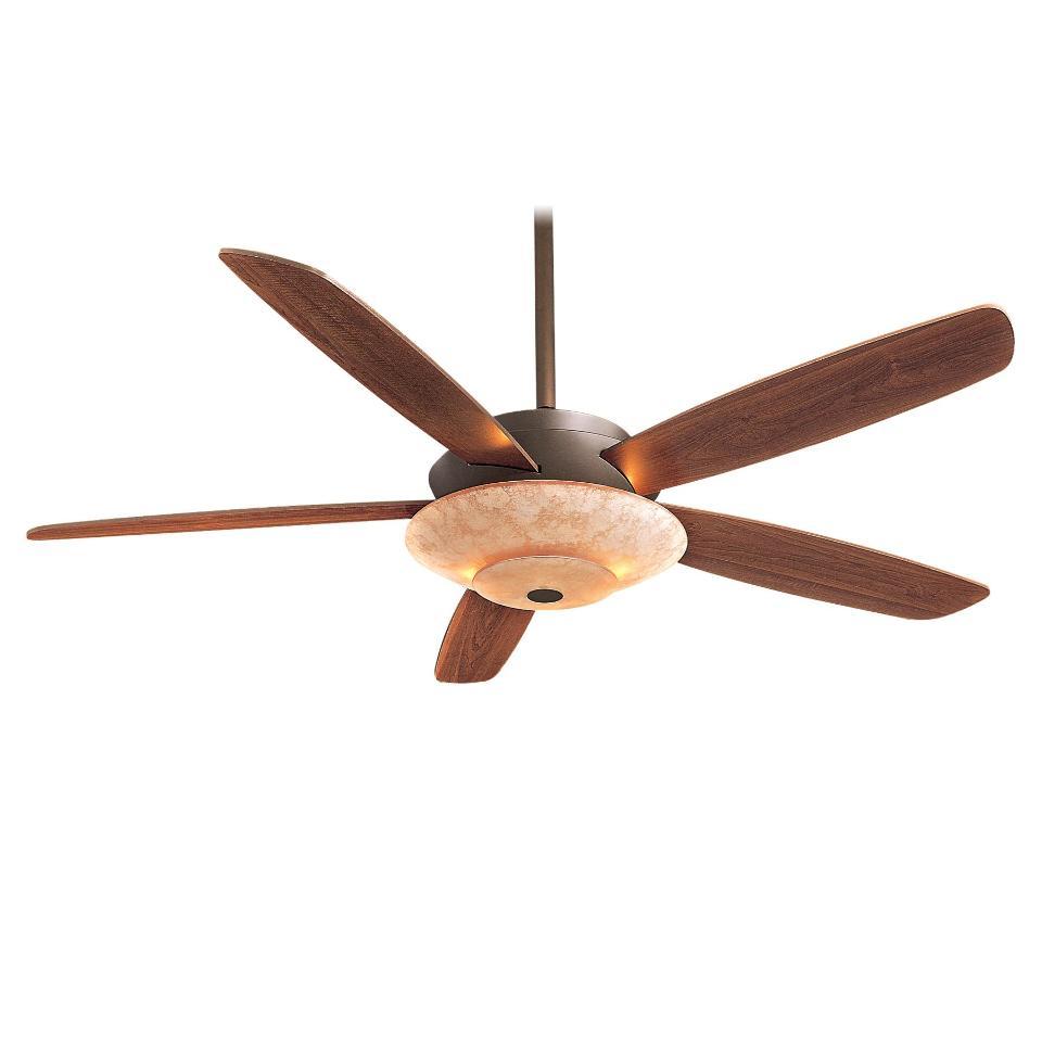 """Ceiling Fans W Lights: Minka Aire F598-ORB Airus Bronze 54"""" Ceiling Fan W/Light"""