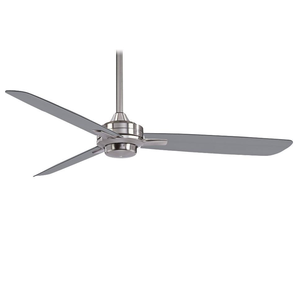 "Minka Aire F727-BN/SL Rudolph 52"" 3 Blade Ceiling Fan - Brushed Nickel"