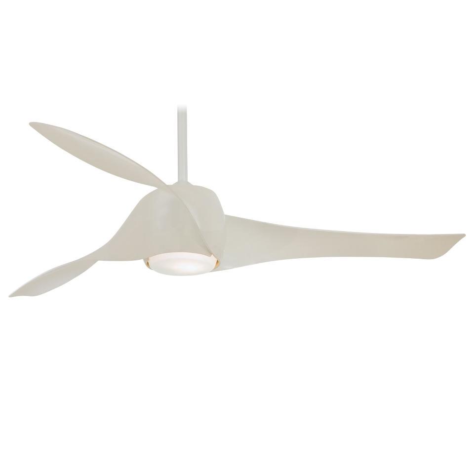Minka Aire F803L-WH Gloss White Artemis Ceiling Fan W/Wall