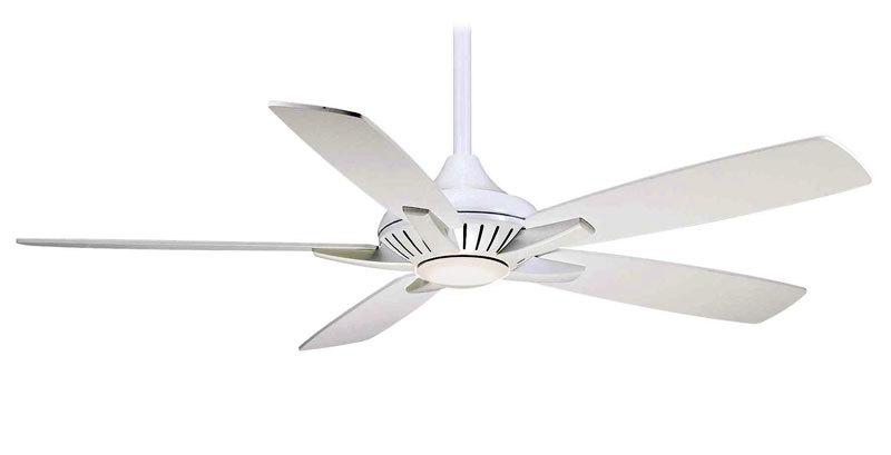 Minka Aire F1000 WH White Dyno 52 Ceiling Fan W Remote
