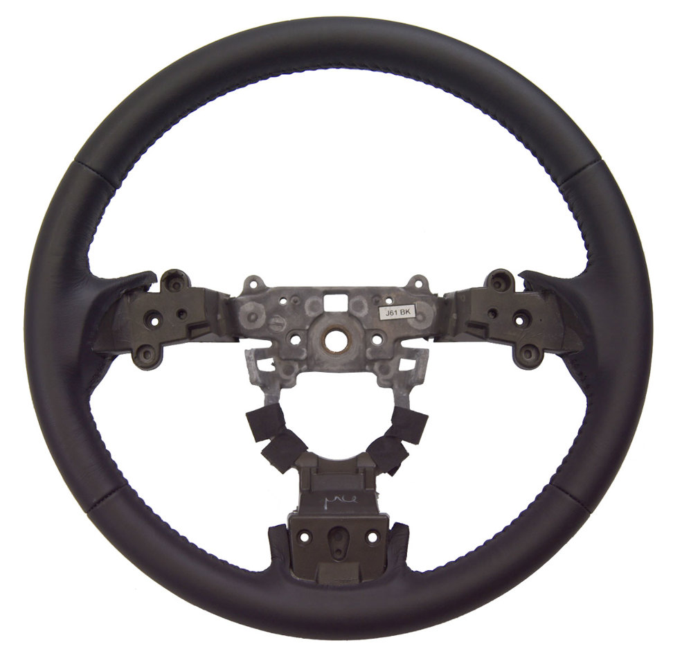 Gs Mazda Black Leather Spoke Steering Wheel New Oem Gs P A