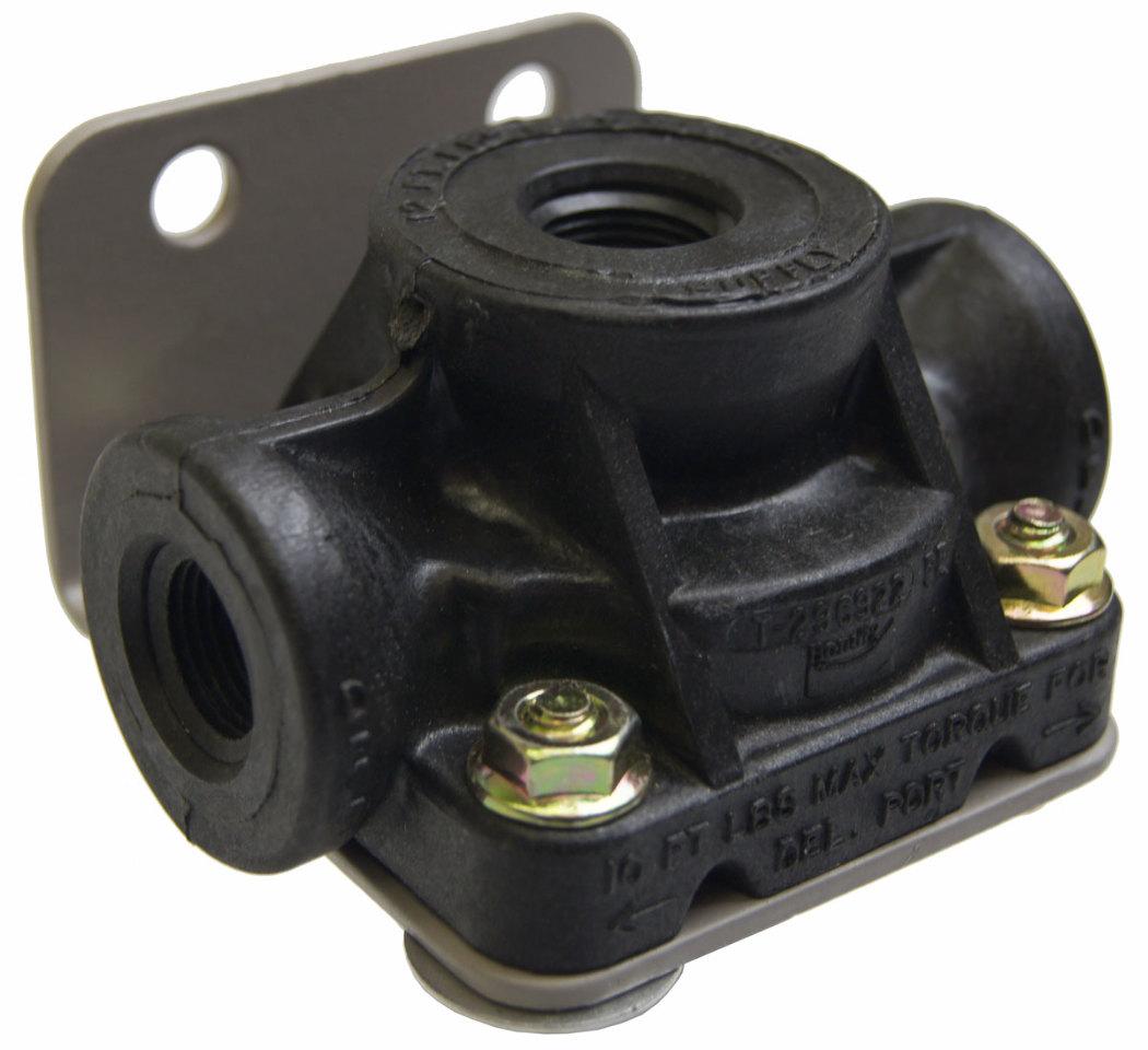 Front air brake quick release valve bendix