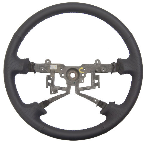 2002-2004 Toyota Camry Steering Wheel Grey Perforated Leather New 4510306070B1