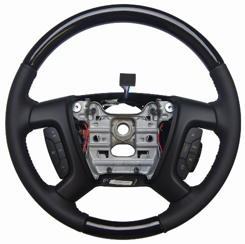 2013 2014 Enclave Acadia Traverse Steering Wheel Ebony W