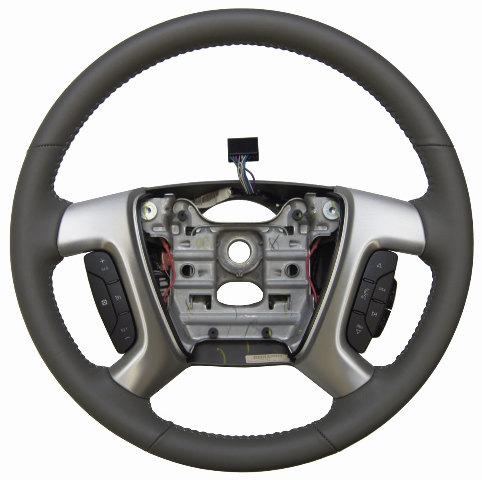2013 16 gmc acadia enclave steering wheel titanium leather new oem 22833225 factory oem parts