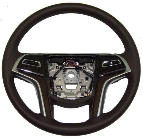 2013-14 Cadillac XTS Steering Wheel Cocoa Brown W/Heat/Paddle Shifters 22964525
