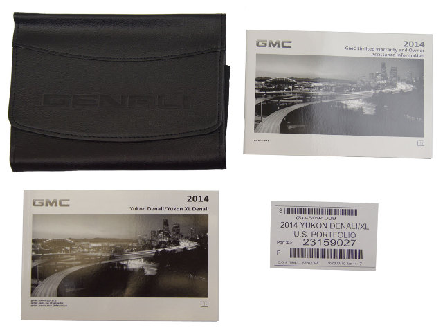 2014 GMC Yukon Denali & Yukon XL Denali Owners Manual Booklet & Leather Pouch