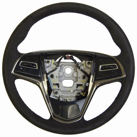 2014 Cadillac Cts Steering Wheel Black Suede W O Paddle