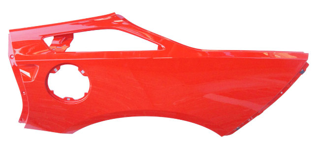 R Genuine Gm C Corvette Coupe Lh Drivers Side Rear Quarter Panel Fender Assembly on 85 corvette weatherstrip diagram