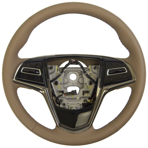 2015 Cadillac ATS Steering Wheel Med Cashmere Tan Leather