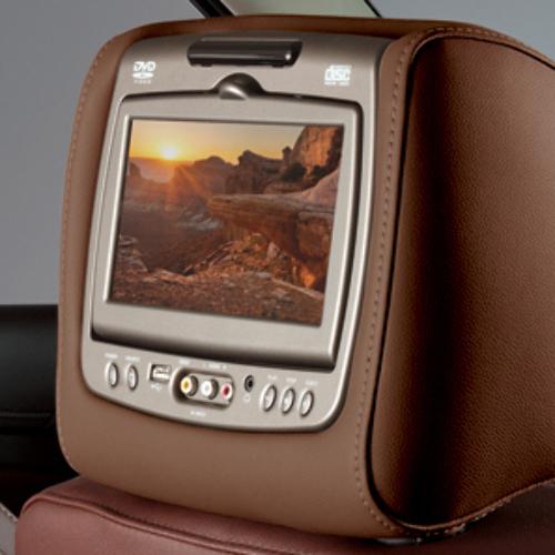 2015-2018 Cadillac Escalade Dual Headrest DVD System New OEM Kona Brown 23309592