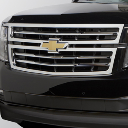 2015-2018 Chevy Suburban Tahoe Front Grille Chrome W/Bowtie Logo New 23320672