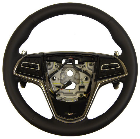2015 Cadillac CTS VSport Steering Wheel Black Leather New
