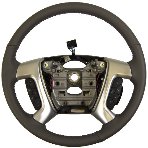 2015 Gmc Acadia Steering Wheel Grey Leather New Oem