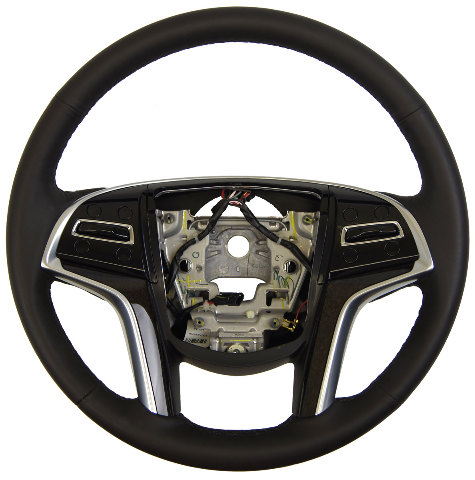 2014 15 Cadillac Srx Steering Wheel Black Leather New Oem