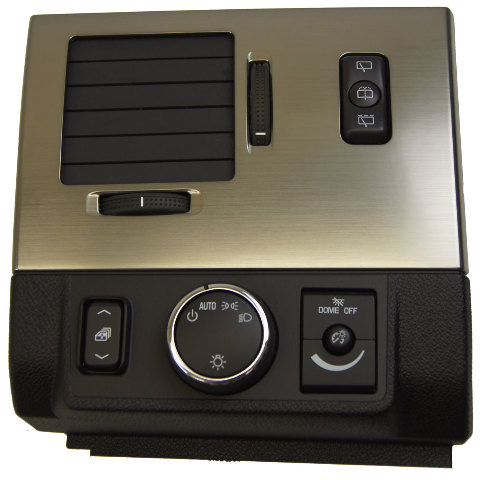 Hummer H Suv Headlight Switch Bezel Lh Vent New Black W Bronze