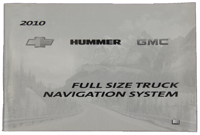 2010 GMC Hummer Chevrolet Full Size Truck Navigation System Booklet New 25872529