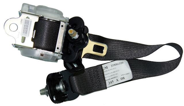 2005 09 Hummer H2 SUV Right Rear Seat Belt Assembly Black