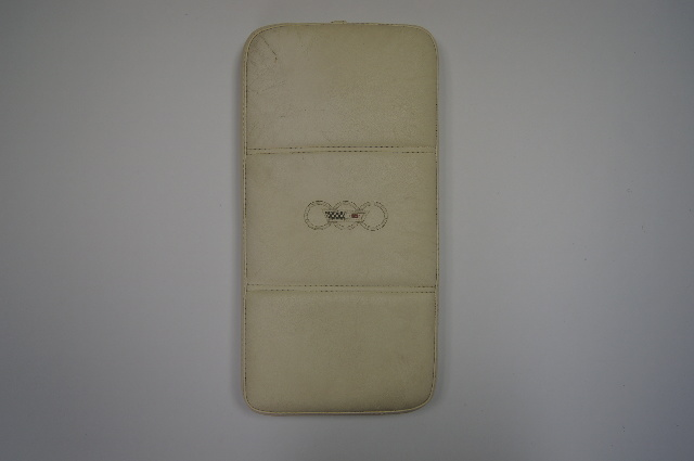 1988 Corvette C4 35th Anniversary Console Armrest Cushion Used White Leather